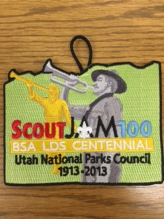 Scout Jam 100 Anniversary of Scouting and the LDS Church Patch