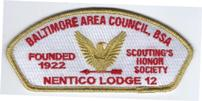 Nentico Lodge Council Shoulder Patch (CSP)