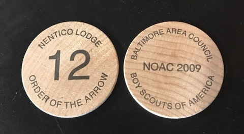Souvenior Wood Coin NOAC 2009