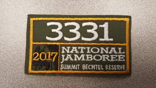2017 National Jamboree Unit Number 3331 Patch