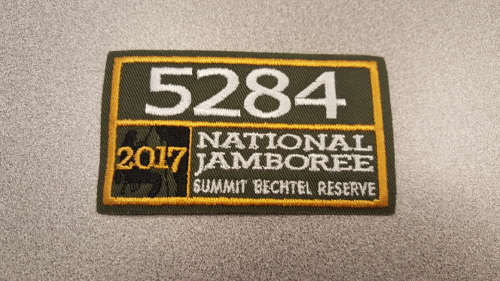 2017 National Jamboree Unit Number 5284 Patch